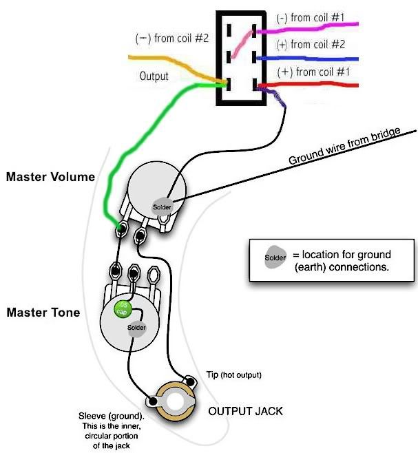 P-bass Wiring Diagram