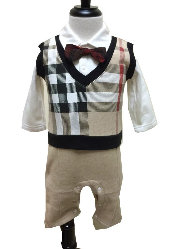 55ba62eccca Baby Toddlers Boy Smart Causal Nova Check Outfit. Familiar Burberry Checked  Design. (Same style only)
