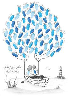 Wedding Tree Fingerabdruckbaum Fingerabdruck Baum Wedding Tree