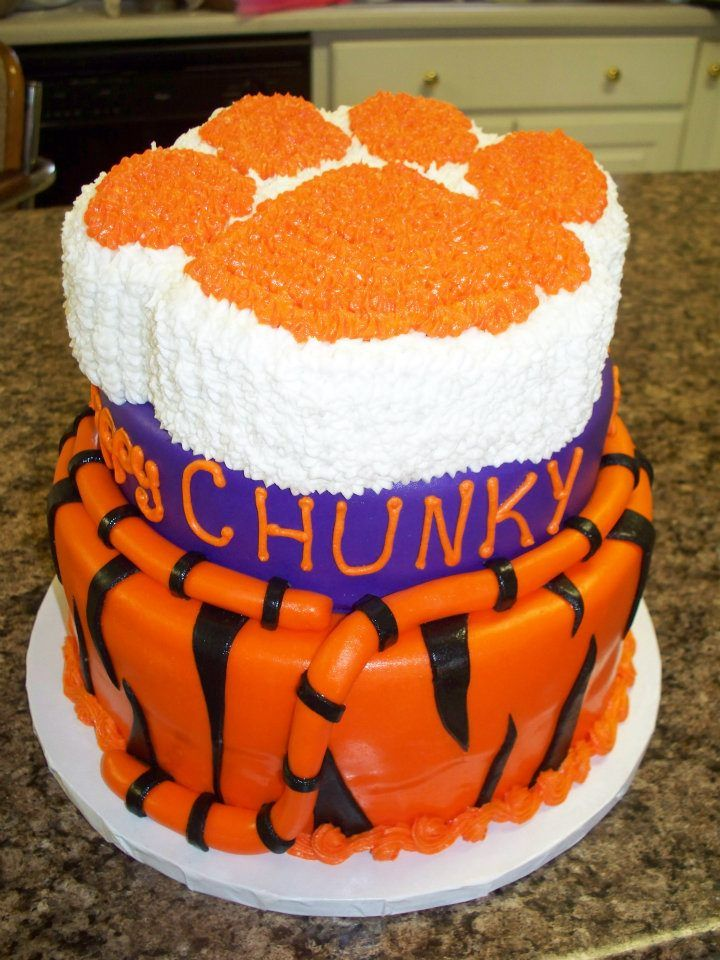 Awesome Cakebut Not Too Crazy About The Tail I Think Thats - Clemson birthday cakes