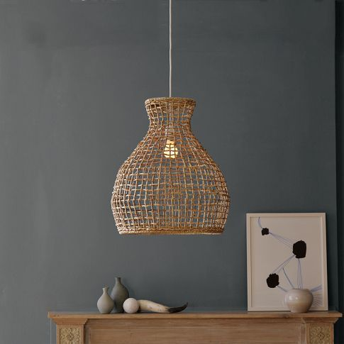 Woven Seagrass Pendant 89 00 The Airy Shapely Silhouette Of This
