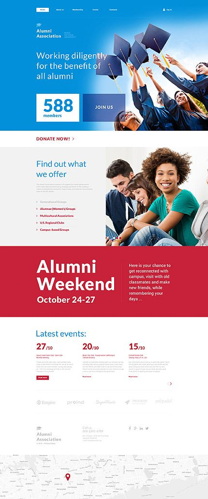 Alumni Association #website #template. #themes #business #responsive ...