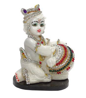 White Lord Krishna Polyresin Idol Statue By Paras Magic God Idols