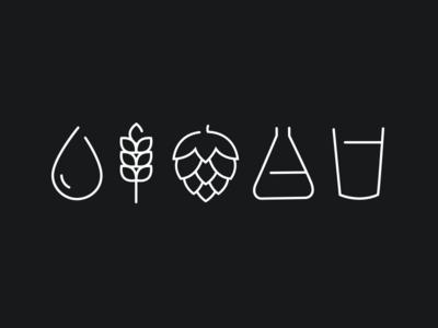 Brewing Icons Beer Drawing Beer Tattoos Craft Beer Design
