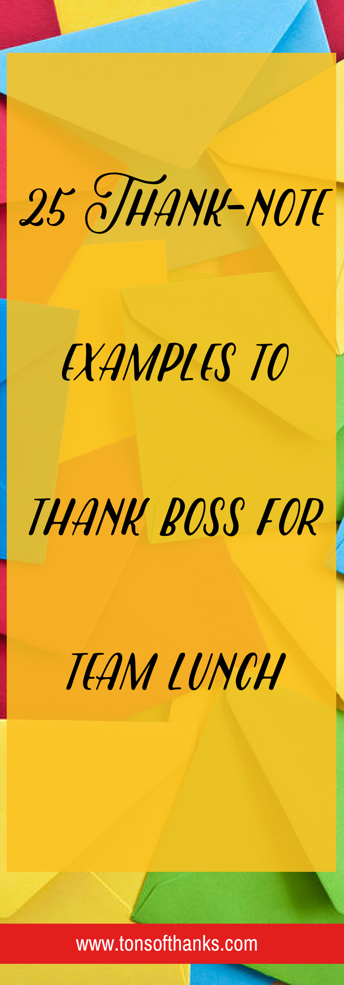 ThankNote Examples To Thank Boss For Team Lunch  Lunches And Note