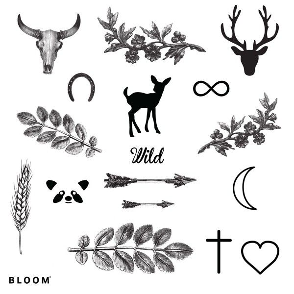 Planche tatouages Bloom Wild