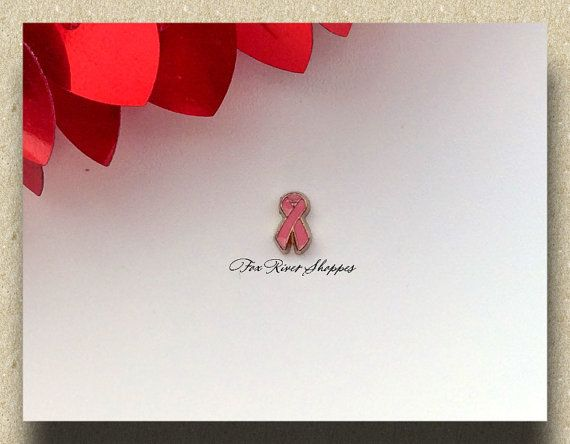 Pink Ribbon Gold Metal Floating Charm for Glass Lockets  - Fox River Locket Shoppe - Etsy