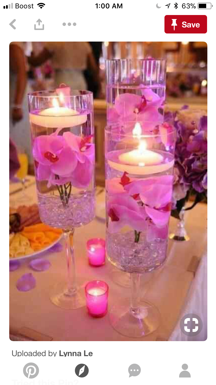 Wedding decoration ideas purple  Pin by Demetrius McLean Rankins on Centerpieces  Pinterest