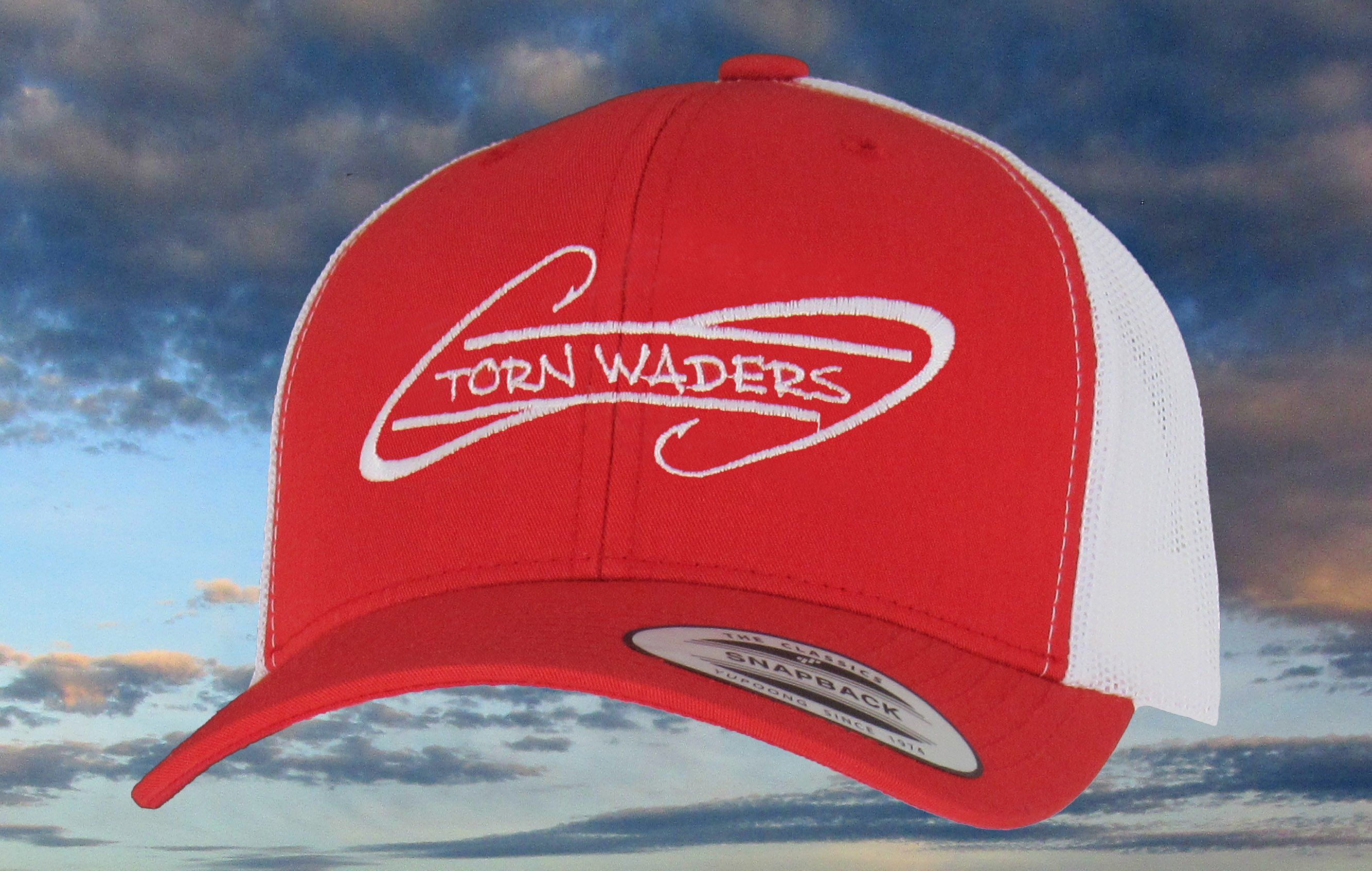 Red and White Embroidered Trucker Fishing Hat.Olive Brushed Cotton Fishing  Hat. These 100 38e6a52032e