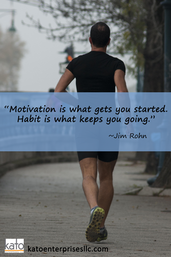 Keep working on those good habits! Remember that it takes 21 consecutive days of a new activity for the brain to create a new habit and 40 days to turn a bad habit into a positive one. Step by step, 1 day at a time, Sole Friends! You are worth it!  #katoenterprisesllc #inspiration #noexcuses