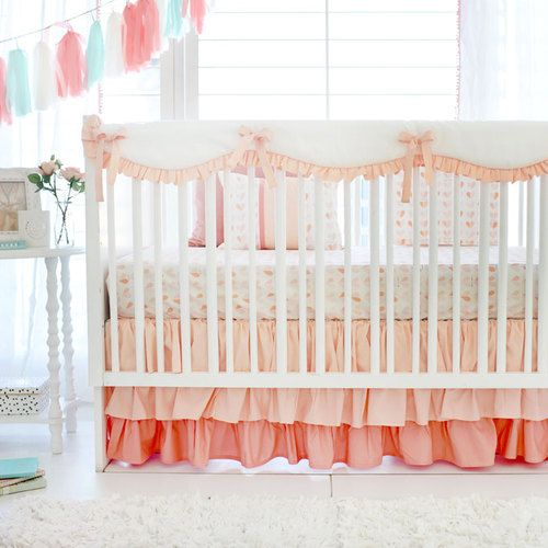 Peach Baby Bedding