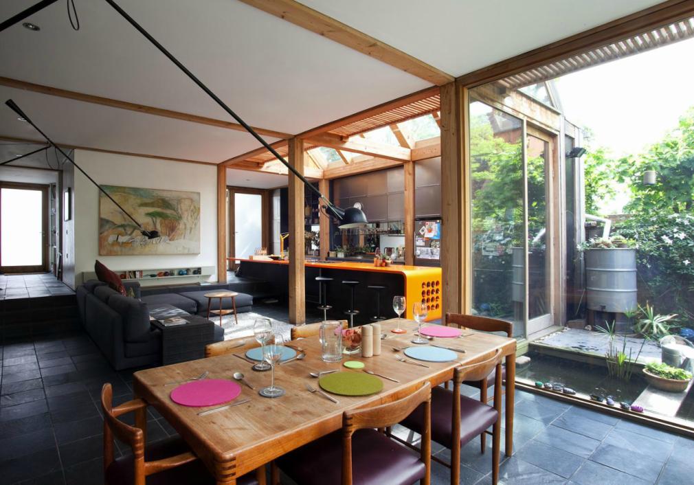 Hackney house E8 Living decor, London house, Floor to