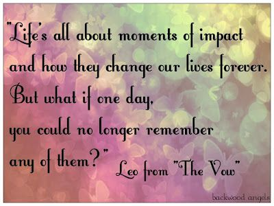 Life\'s all about moments of impact and how they change our lives ...