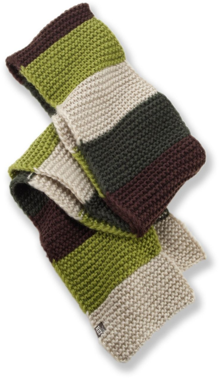 REI Striped Scarf. | Totally Cool Knitting Ideas | Womens ...