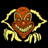 Evil clown shaded pumpkin carving diy pinterest for Creepy clown pumpkin stencil