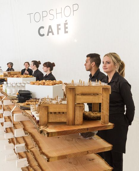 Topshop Showspace Ss14 By Pernilla Ohrstedt Studio Love The Way They Use Wood Topshop Restaurant Concept Studio