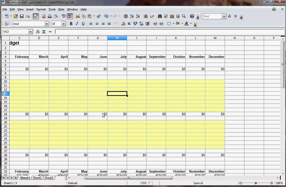 Budget Spreadsheet Download