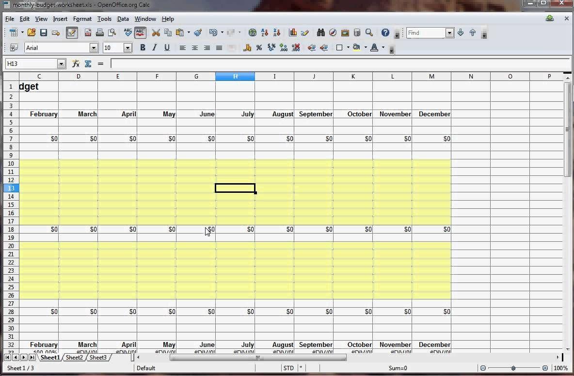 Budget Spreadsheet Download