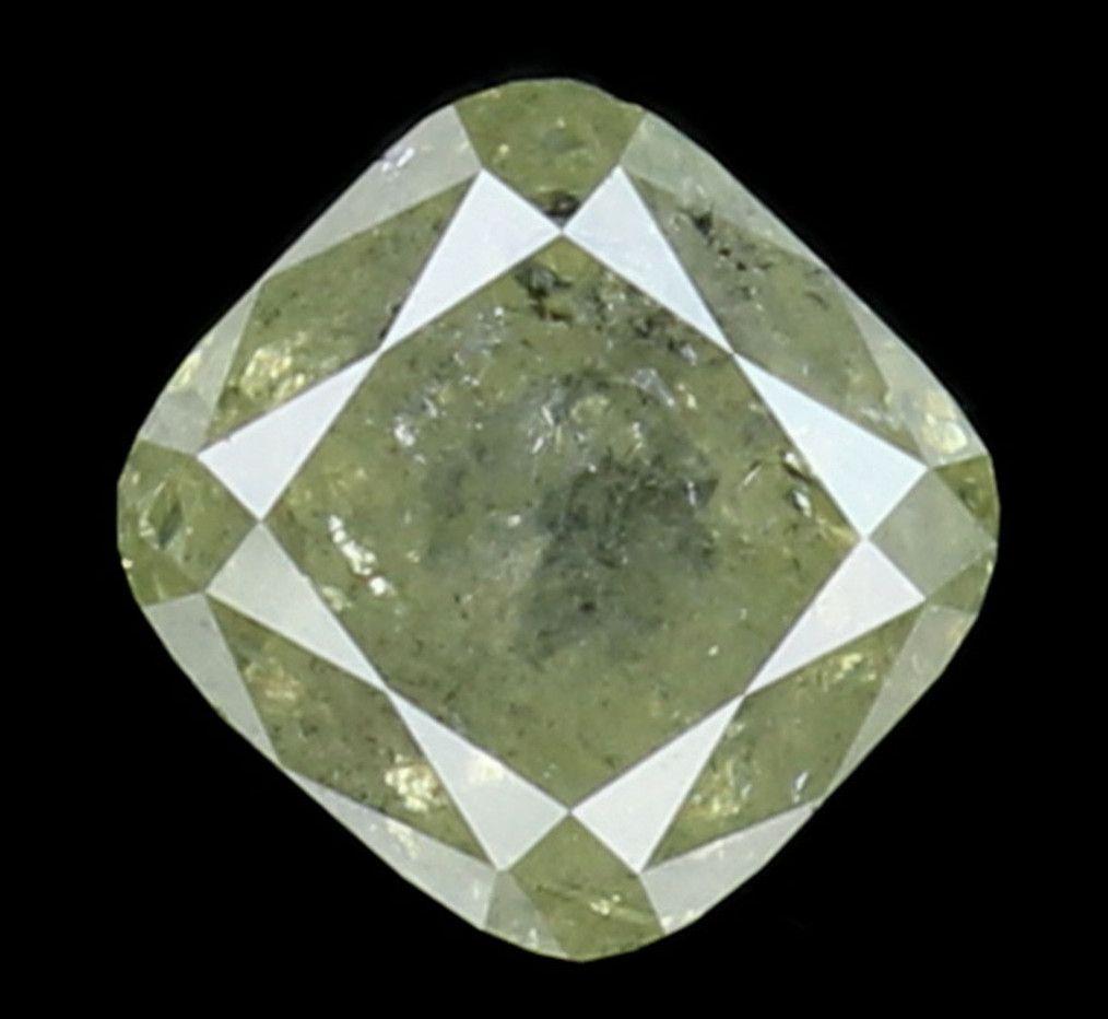 1.04 Ct Natural Loose Diamond Cut Cushion Grey Color 5.40X5.20X3.90 MM L8040