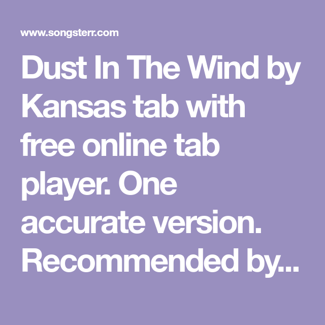 dust in the wind by kansas tab with free online tab player on wall street journal online id=17376