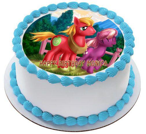 MY LITTLE PONI 4 Edible Birthday Cake Topper