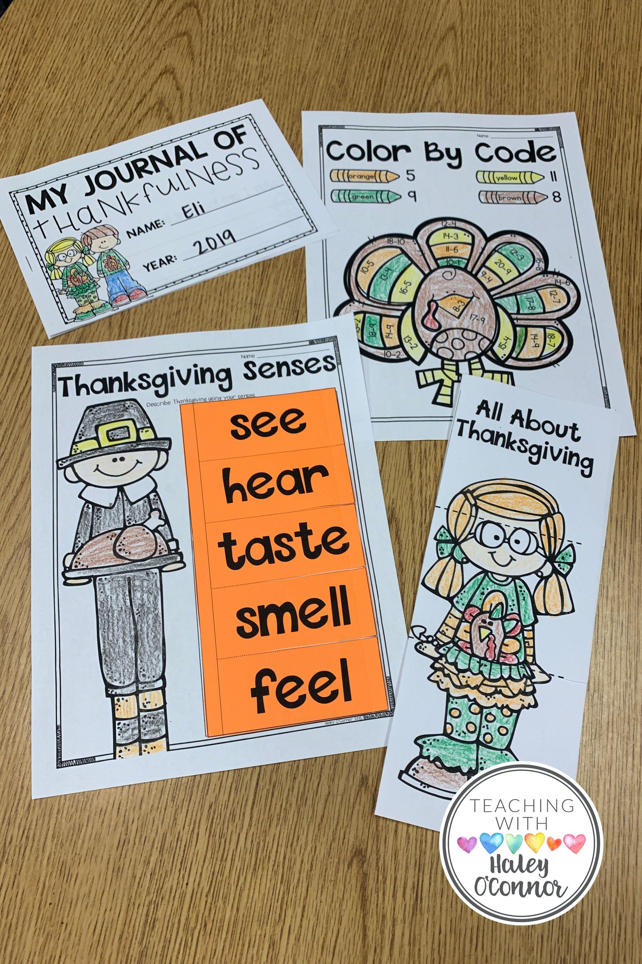 Thanksgiving Activities Writing Flipbooks Printables