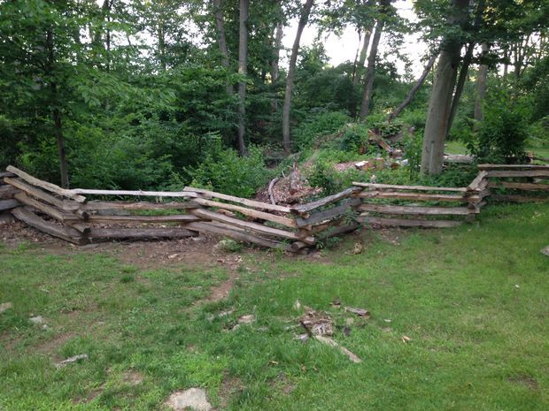 Colonial style split rail fence pictures of and