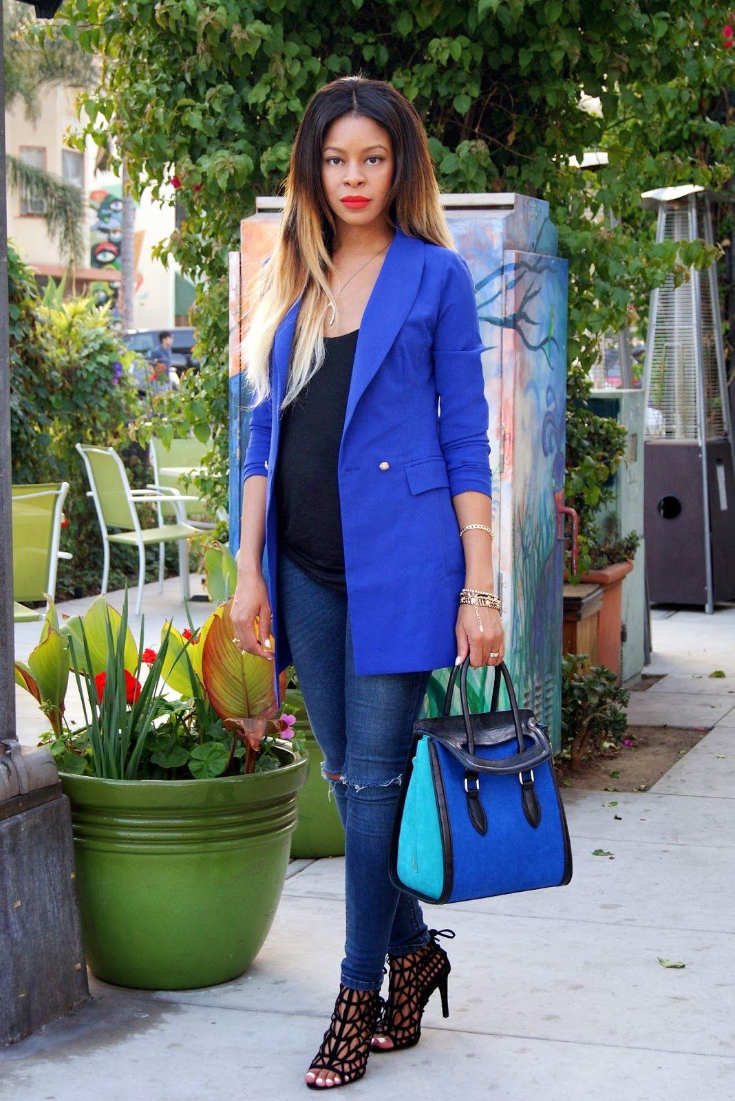celine blue blazer