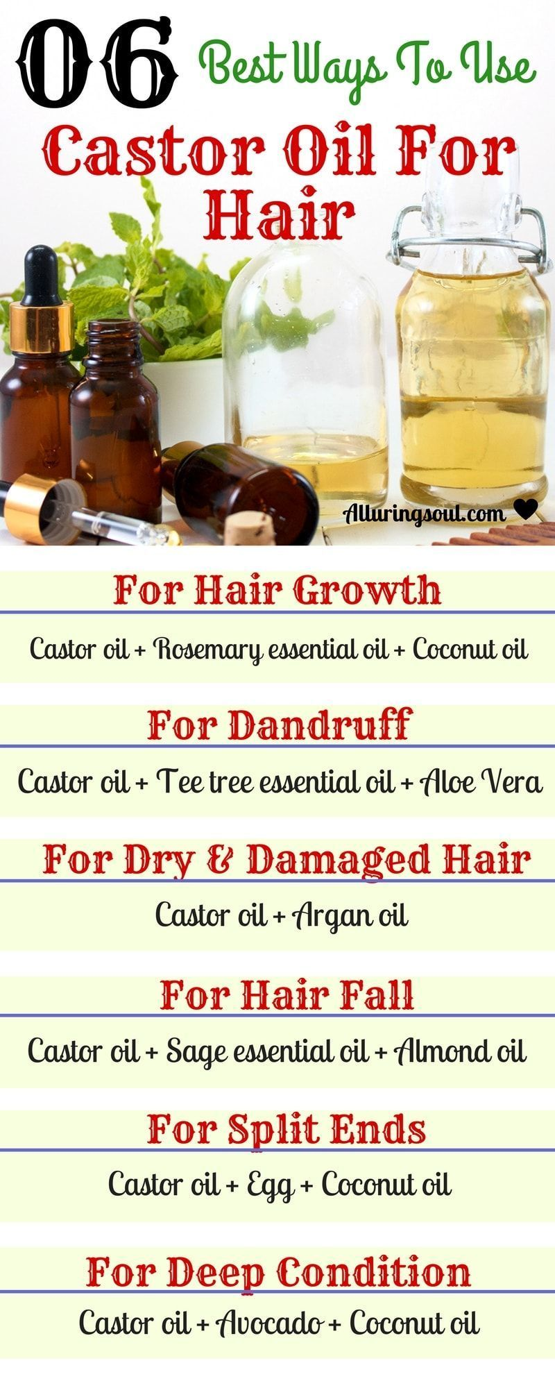 Castor Oil For Hair Problems Like Dandruff Baldness And Hair Fall In Hindi