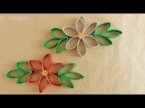 Diy manualidades para navidad flor de pascua para decorar - Youtube manualidades de papel ...
