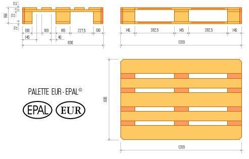 Euro Pallet Sizes Palets Europeos Asientos De Paleta Palet