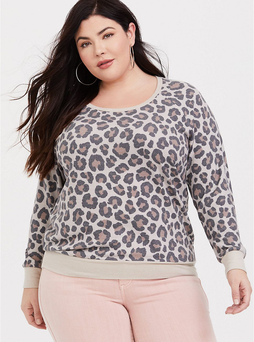 6504869b044 Leopard Cozy Brushed Hacci Sweatshirt in 2019 | Clothes | Lace ...