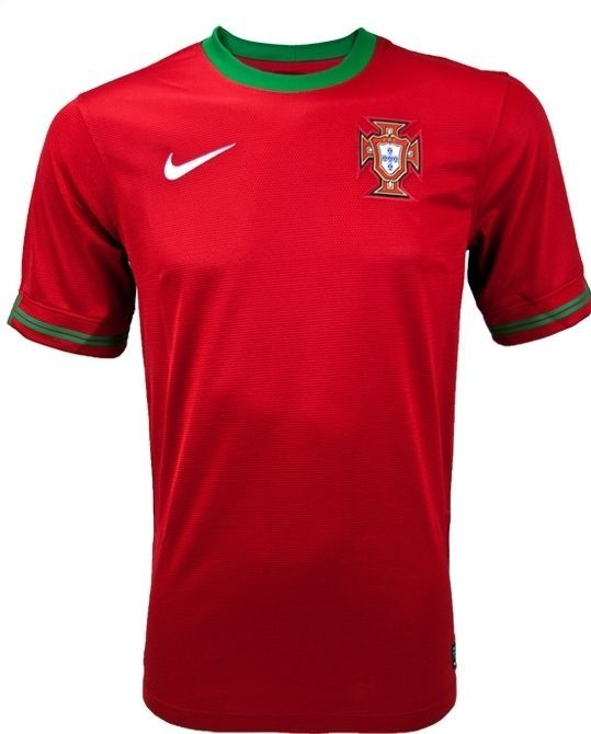 088b2b1f26d7f NIKE FPF PORTUGAL HOME JERSEY Dri Fit tech| 447883-638| SZ: L|  Red-Green-White #NIKE #Portugal