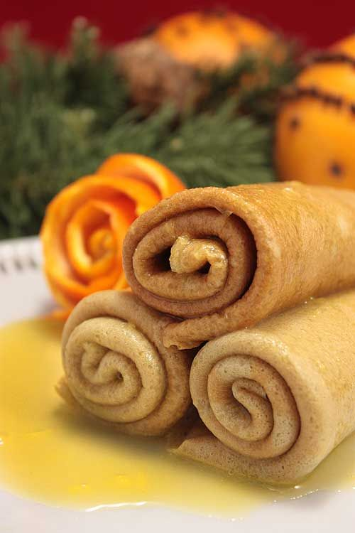 Christmas Crepes Suzette - Lexie's Kitchen | Gluten-Free Dairy-Free Egg-Free - Lexie's Kitchen