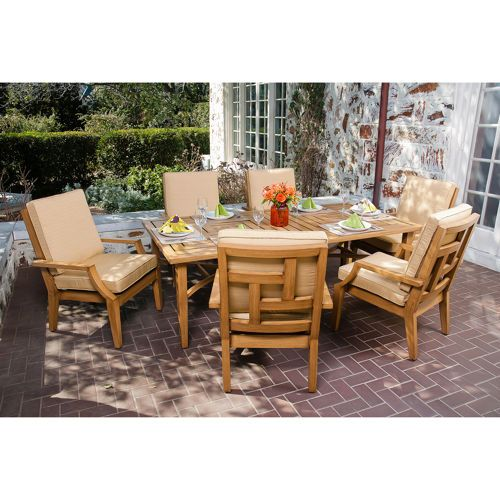Aluminum Painted To Look Like Wood $1899Ellery 7Piece Dining Classy Dining Room Sets Costco 2018