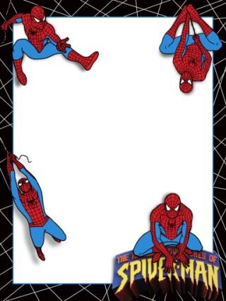 Journal Card Ioa Spiderman 3x4 Inviti Di Compleanno Compleanno Spiderman Fai Da Te Buon Compleanno
