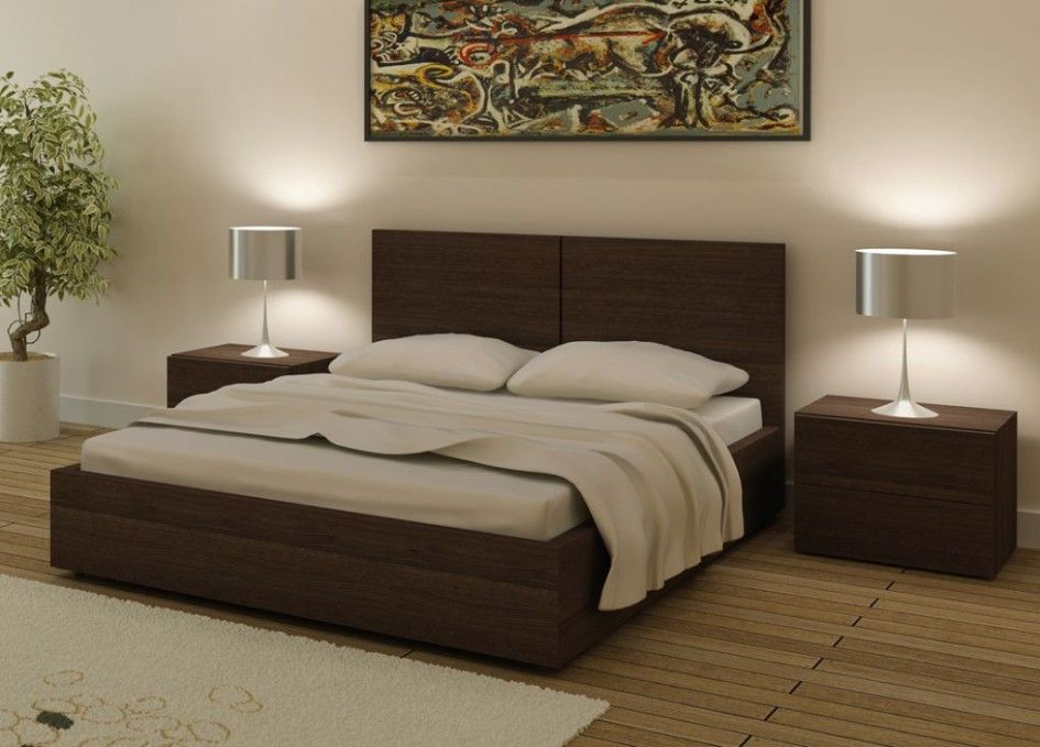 Simple Double Bed Design Photo