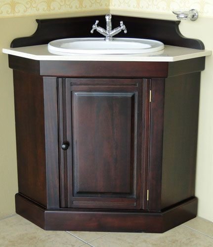 Bathroom Corner Vanity Cabinets With Images Small Bathroom