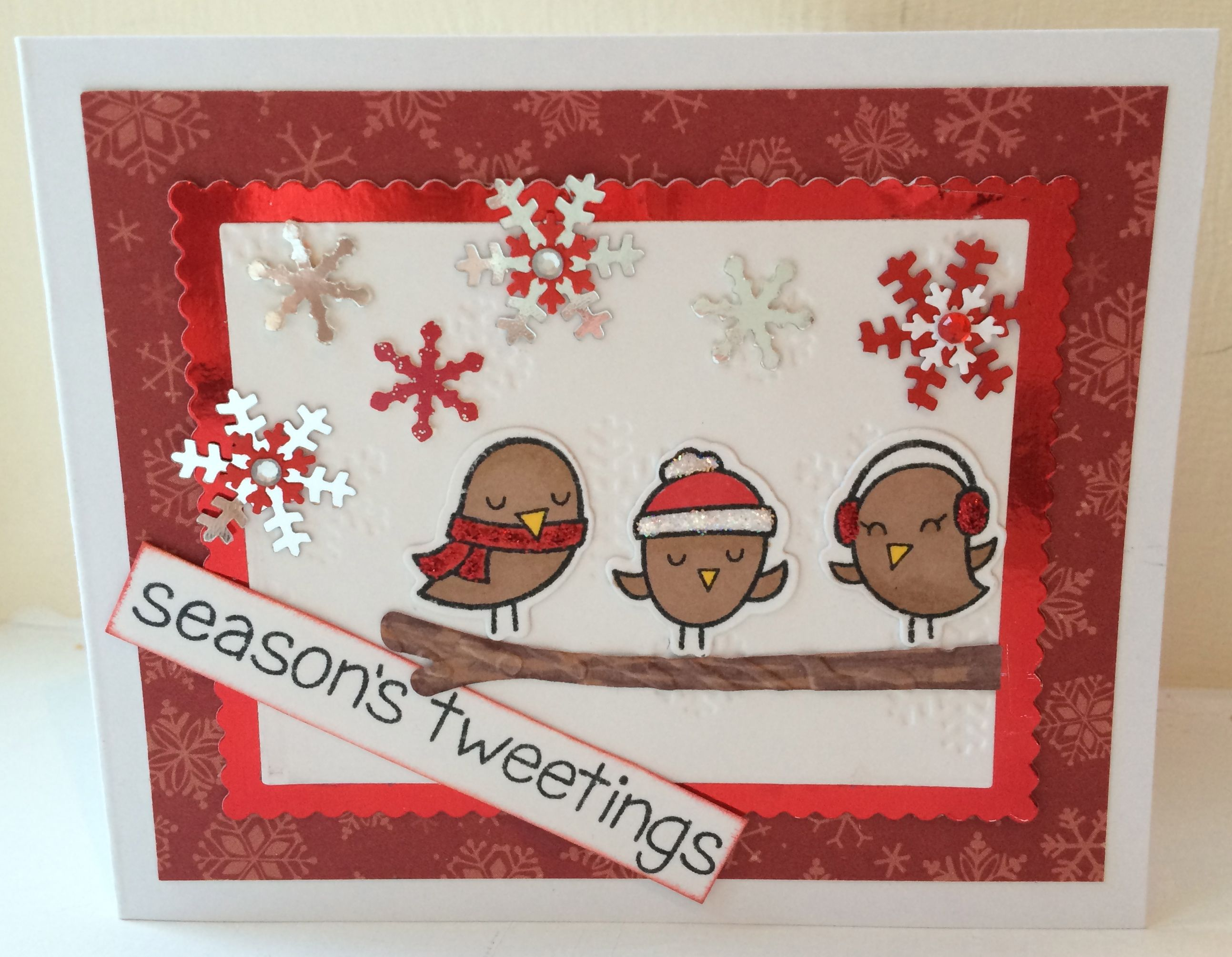 Lawn fawn season 39 s tweetings these birds are so cute bastelideen weihnachtskarten - Niedliche weihnachtskarten ...