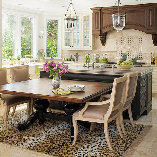 Kitchen Island Designs We Love | Kitchen eating areas, Walnut ...