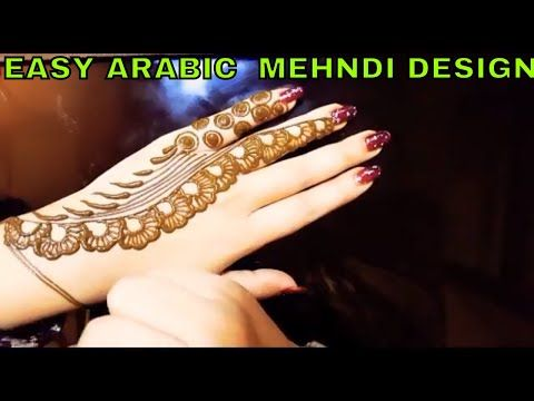 Easy Mehndi Ideas : Slow motion simple easy mehndi designtry this new