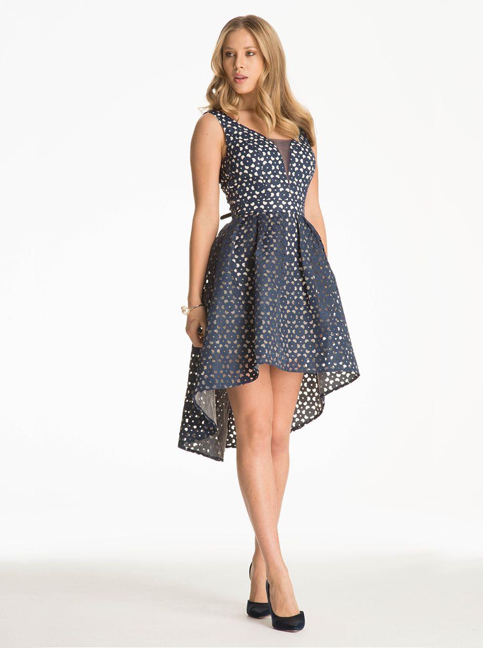Tmavomodré vzorované šaty Chi Chi London Leanne  7e3509a5182
