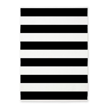 Black And White Bold Stripes 5 X7 Area Rug By Holidayheartsdesigns