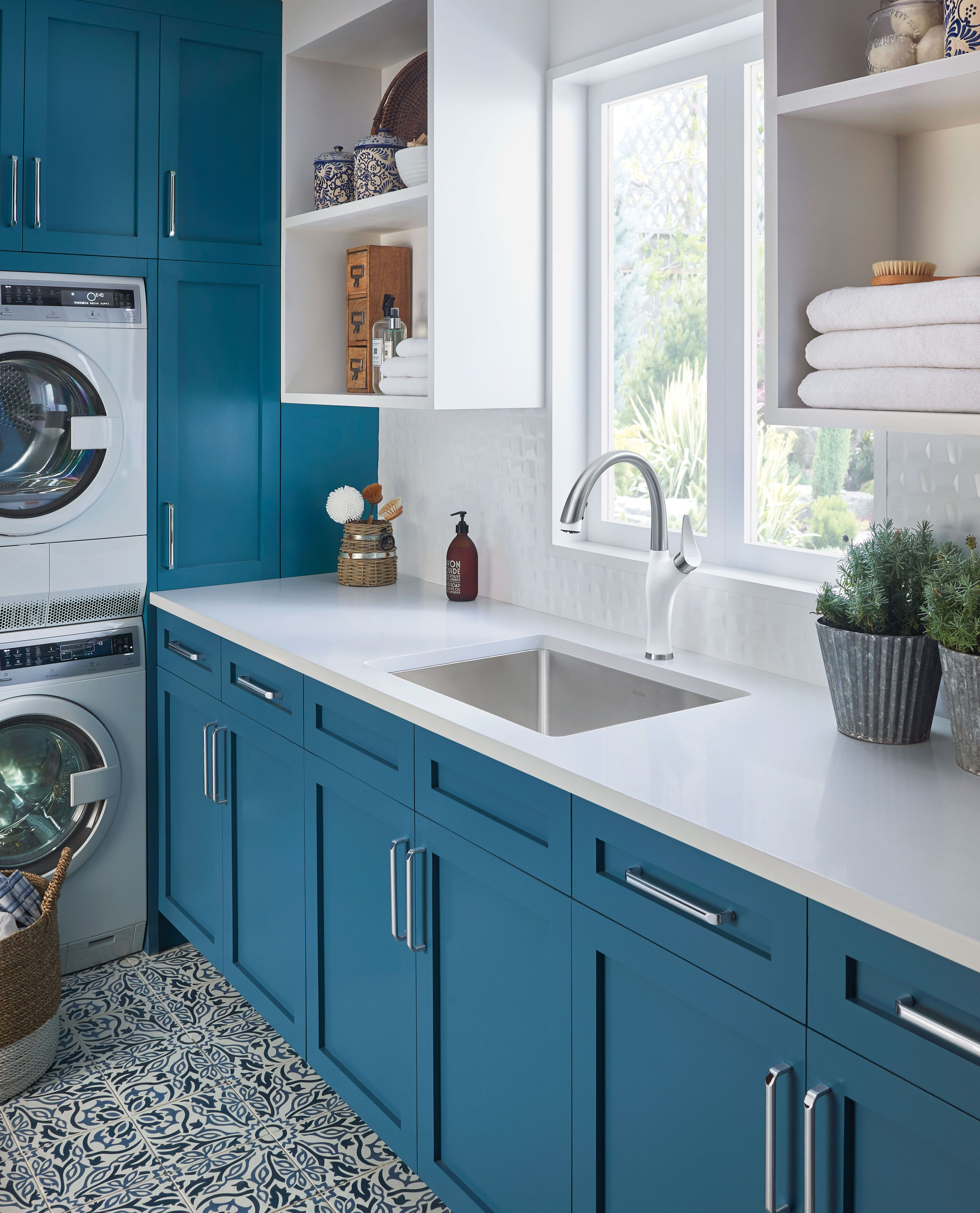 We Wouldn T Mind Laundry Day Here Blanco Offers Numerous Sink And