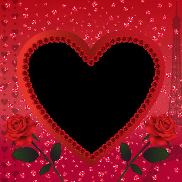 Heart Romantic Love in Paris PNG Transparent Frame | michel ...