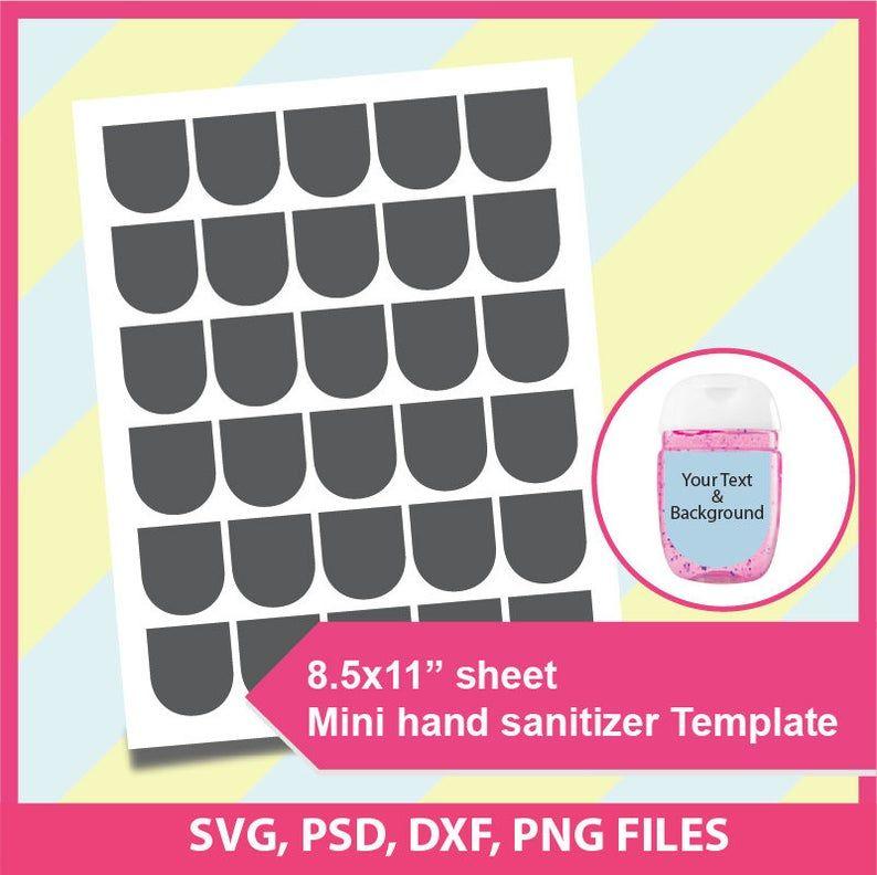 Mini Hand Sanitizer Label Template Microsoft Word Doc Psd Etsy Label Templates Mini Hands Template Printable