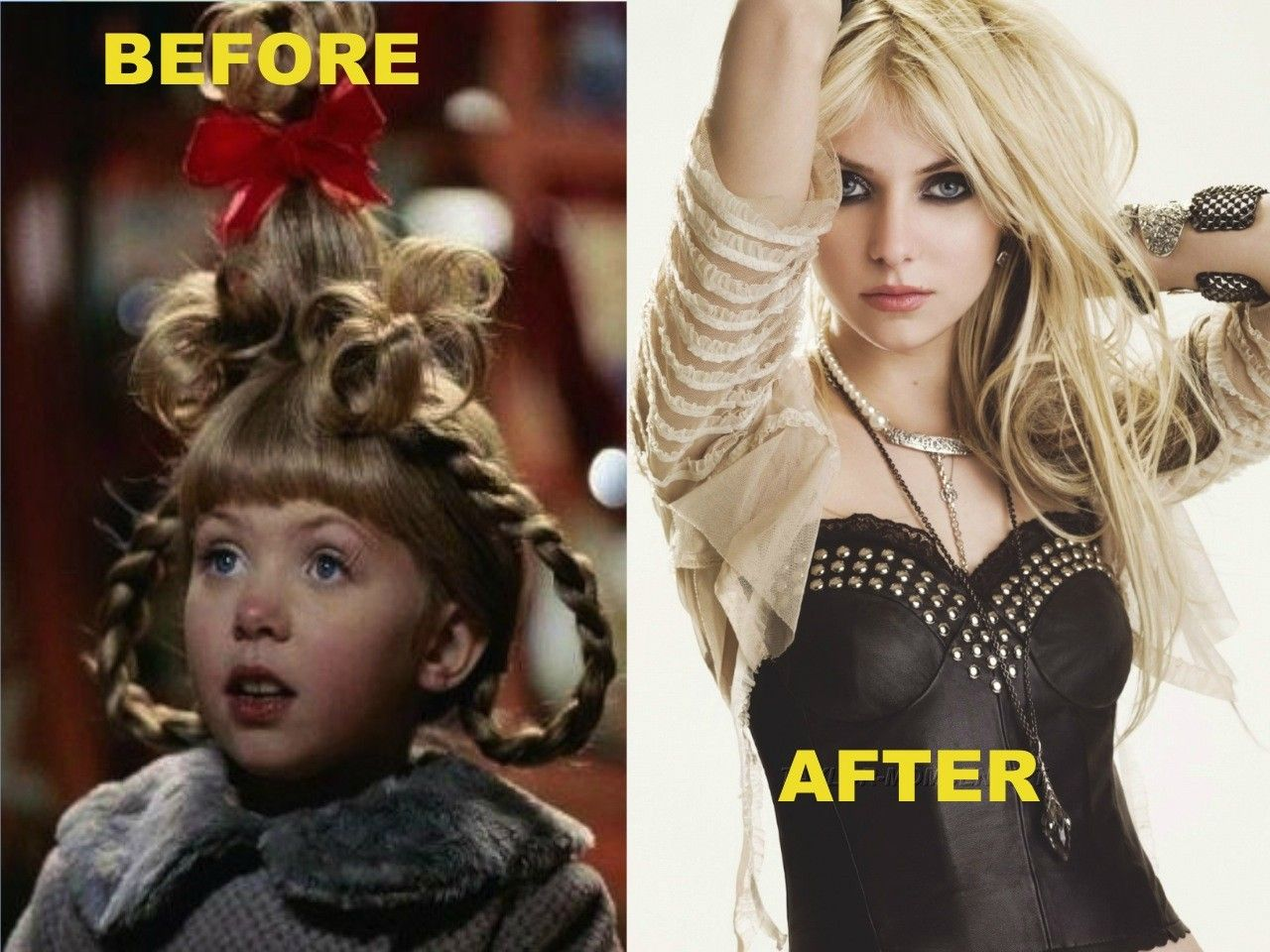 The Grinch Who Stole Christmas Cast.Taylor Momsen Before After Music Taylor Momsen Girl
