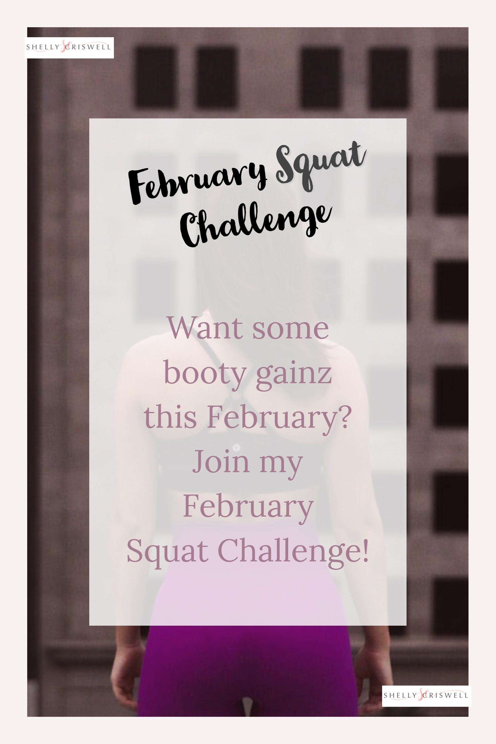 Want Some Booty Gainz This February Join My Squat Challenge To Get Superset Circuit Hiit Pinterest Started