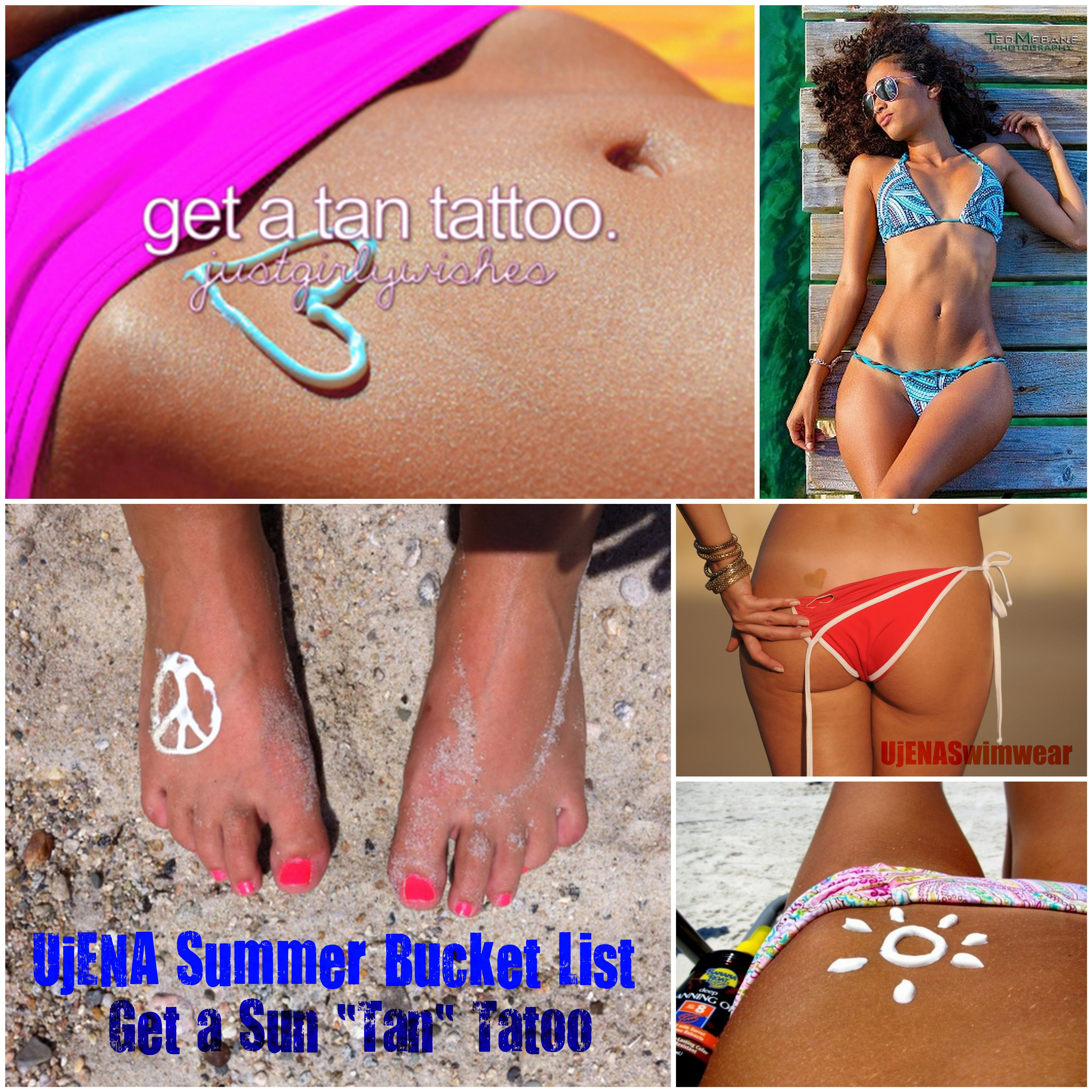 Ujena Summer Bucket List 2 Get A Sun Tan Tattoo Summer