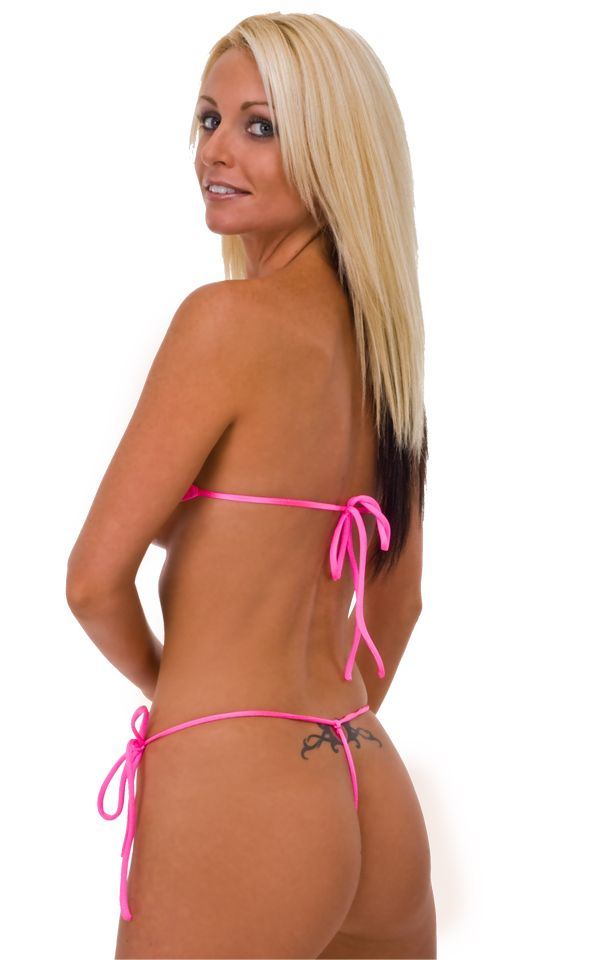 ed3601f945 Womens-Band-Aid-Bandeau-Sexy-Swim-Top-in-Wet-Look-Hot-Pink-by-Skinz